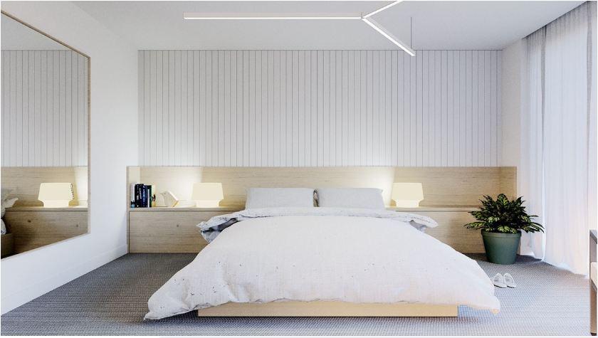 Thiết kế nội thất phòng ngủ phong cách Zen đơn giản hiện đại