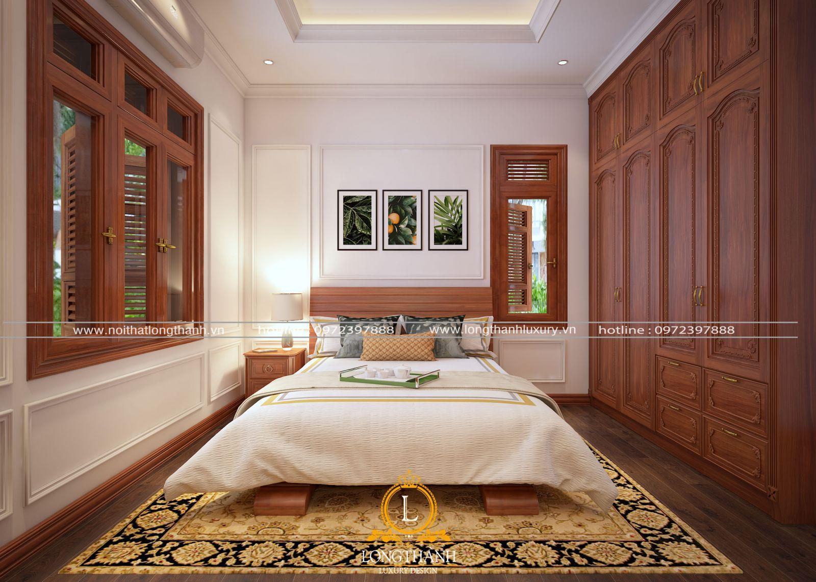 Mẫu thiết kế nội thất phòng ngủ hiện đại chi biệt thự song lập