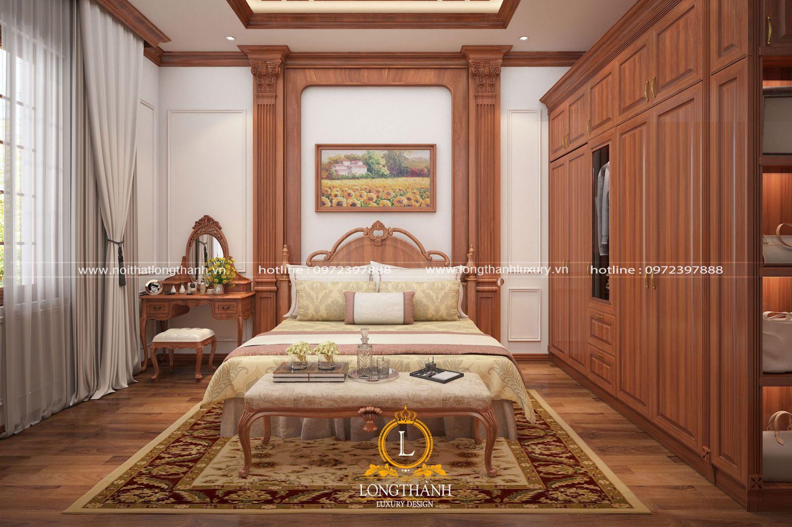 Thiết kế nội thất phòng ngủ tân cổ điển nhẹ nhàng