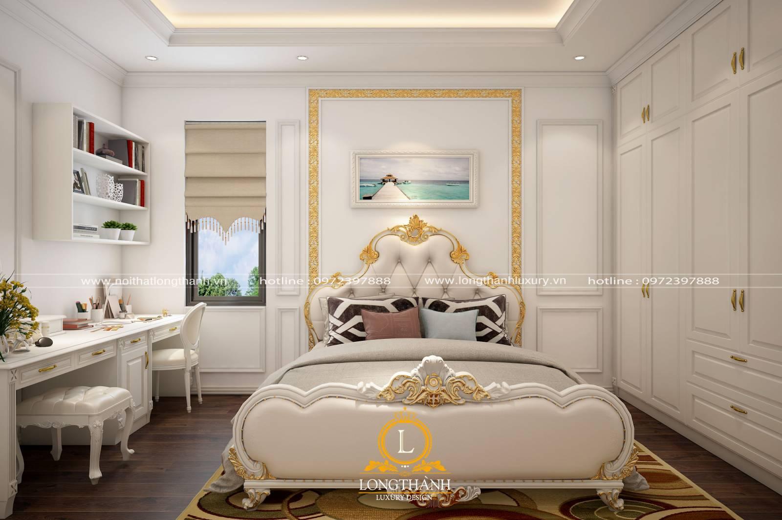 Thiết kế nội thất phòng ngủ tân cổ điển nhỏ cần lưu ý về diện tích và màu sắc