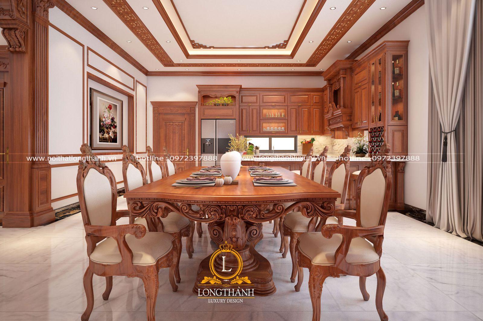 Thiết kế nội thất tân cổ điển cho không gian bếp ăn
