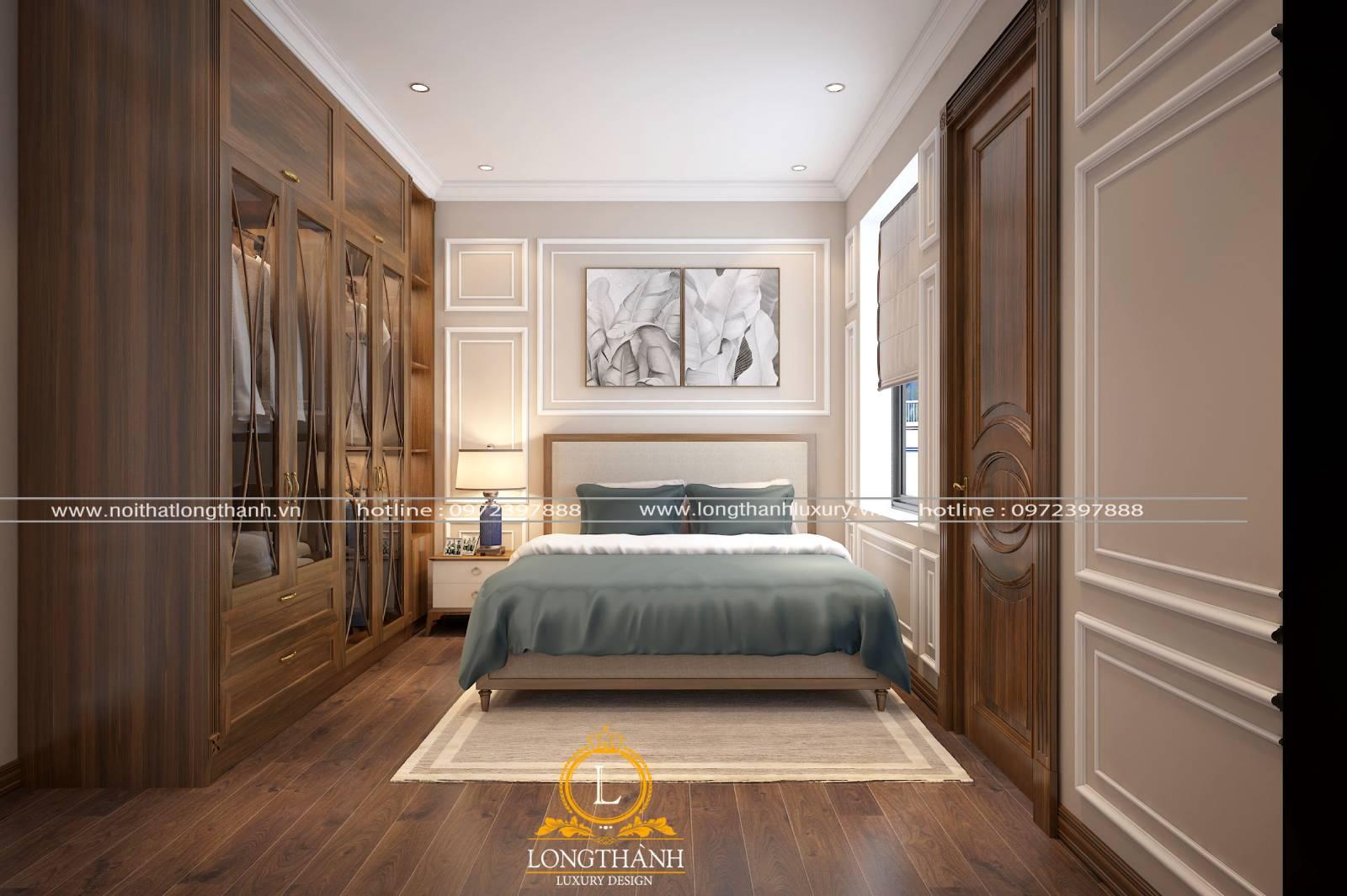 Mẫunội thất tân cổ điển đẹp cho phòng ngủ diện tích nhỏ