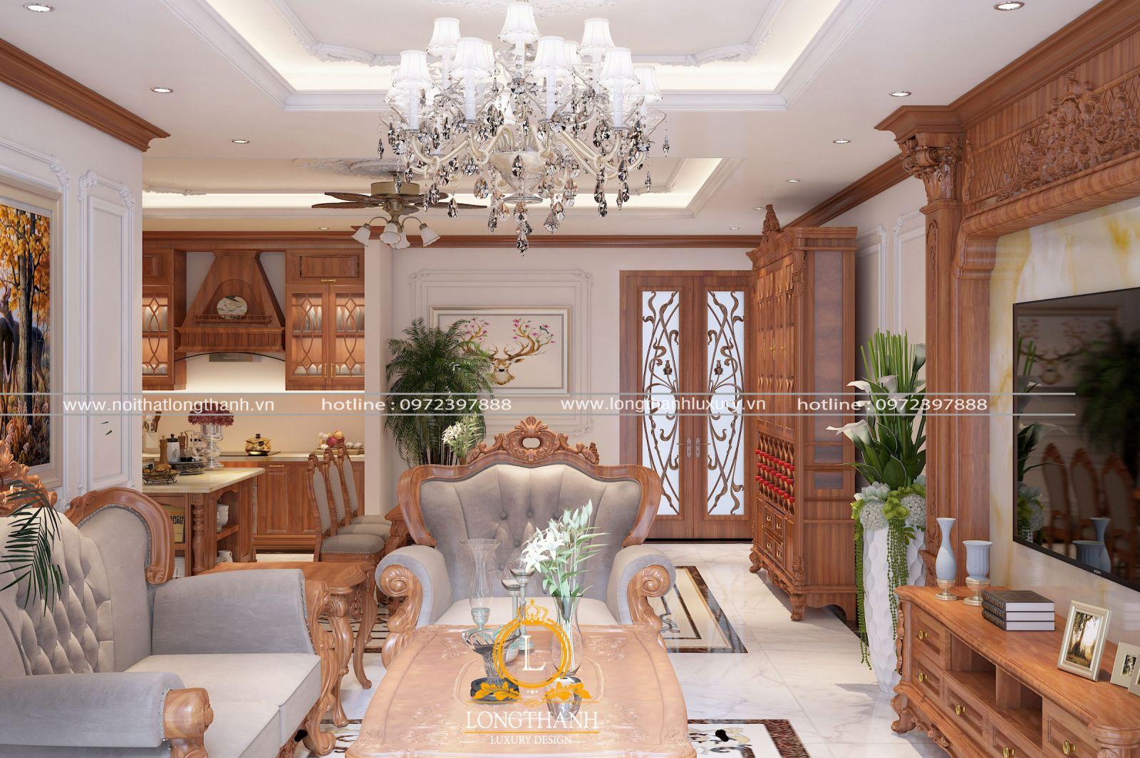 Không gian chung cư sang trọng với nội thất tân cổ điển