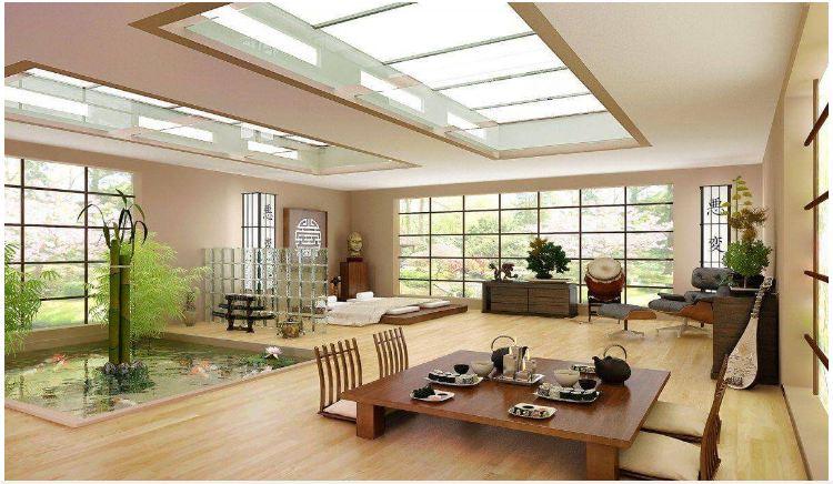 Nội thất nhà phong cách Zen với hệ đường thẳng một chiều