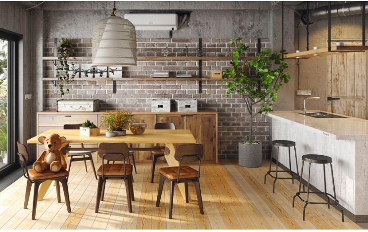 Thiết kế phòng bếp hiện đại pha lẫn phong cách thiền Nhật Bản