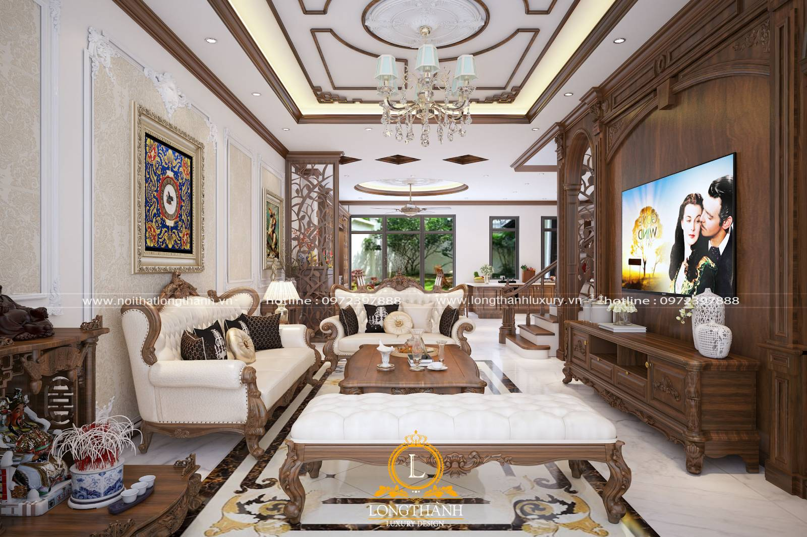 Thiết kế phòng khách liền phòng ăn mang lại sự tiện lợi thoải mái