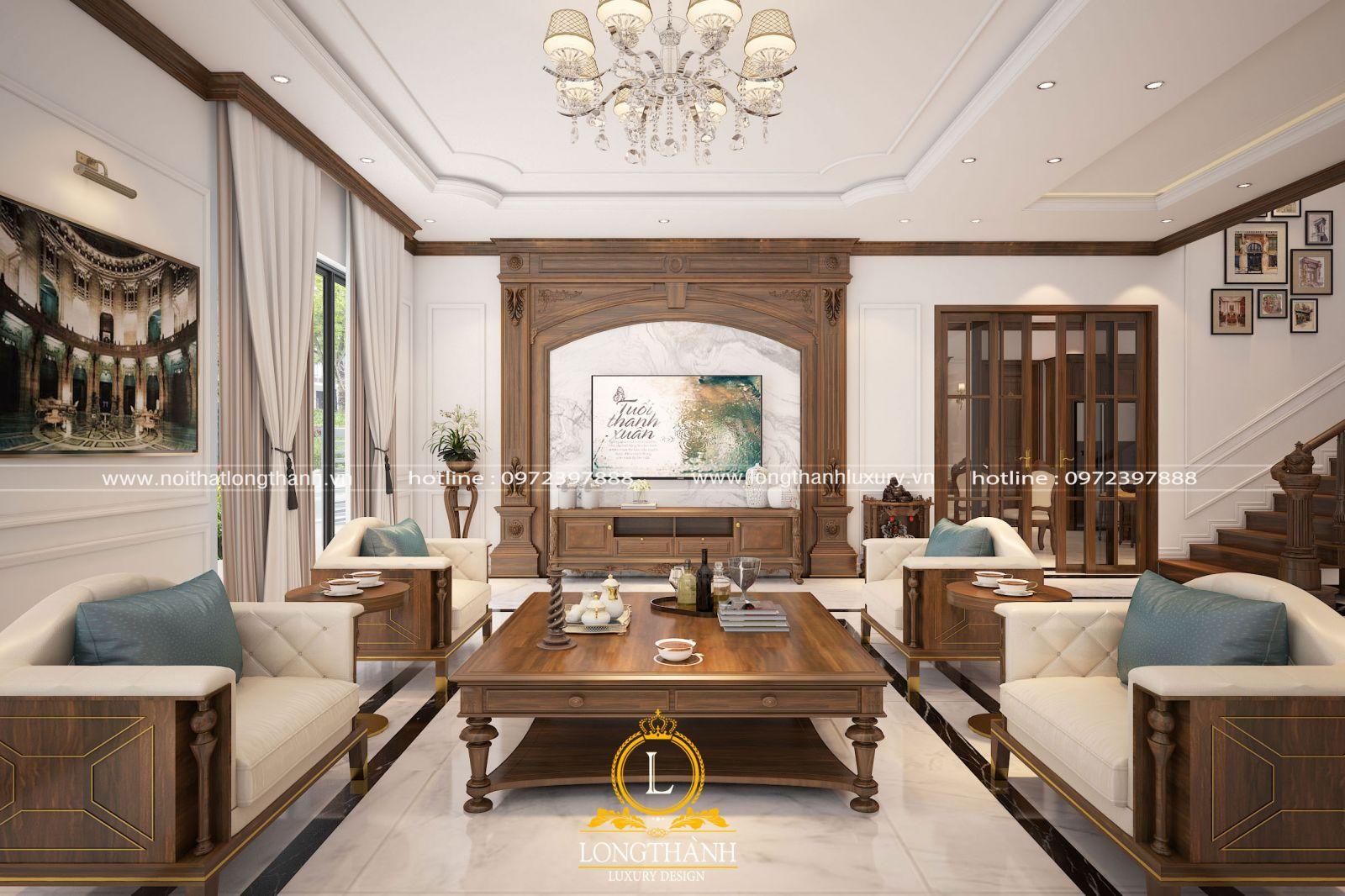 Thiết kế phòng khách đẹp hiện đại và thanh lịch