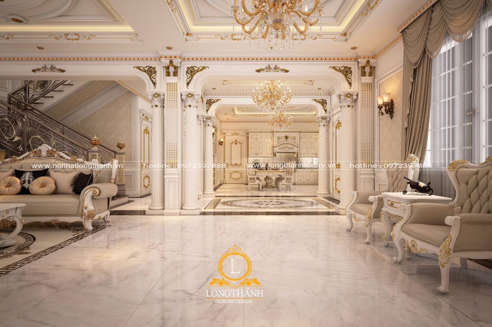 Thiết kế phòng khách liền phòng ăn đảm bảo sự hài hòa về ánh sáng màu sắc
