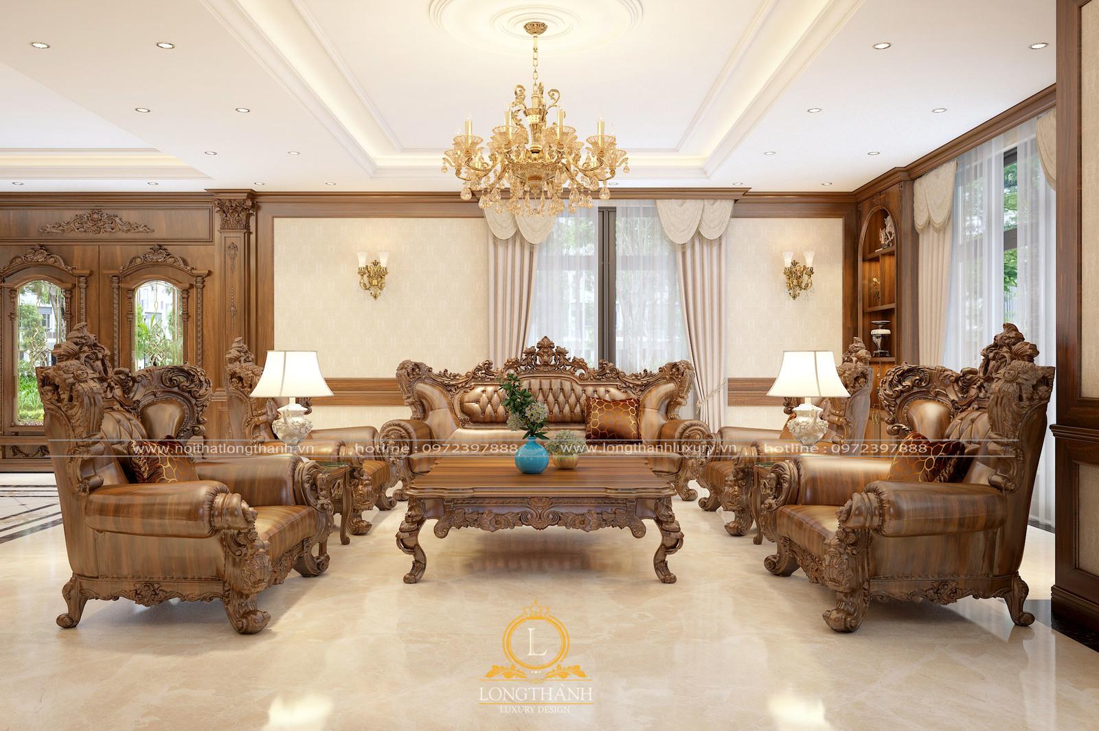 Thiết kế phòng khách tân cổ điển cho biệt thự là lựa chọn thích hợp nhất