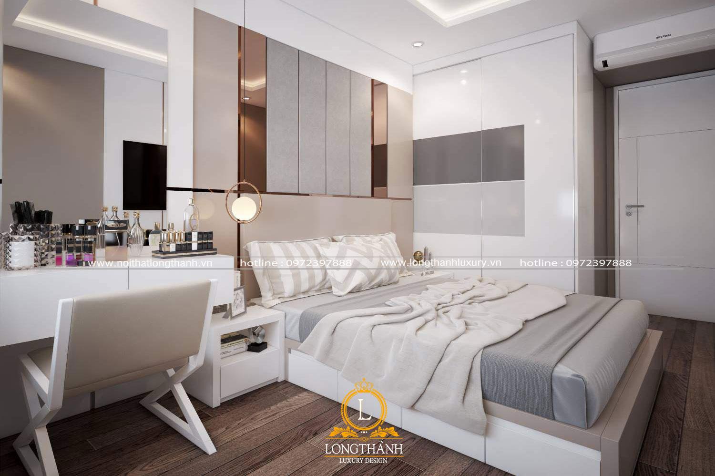 Phòng ngủ hiện đại cho vợ chồng với đồ nội thất thông minh