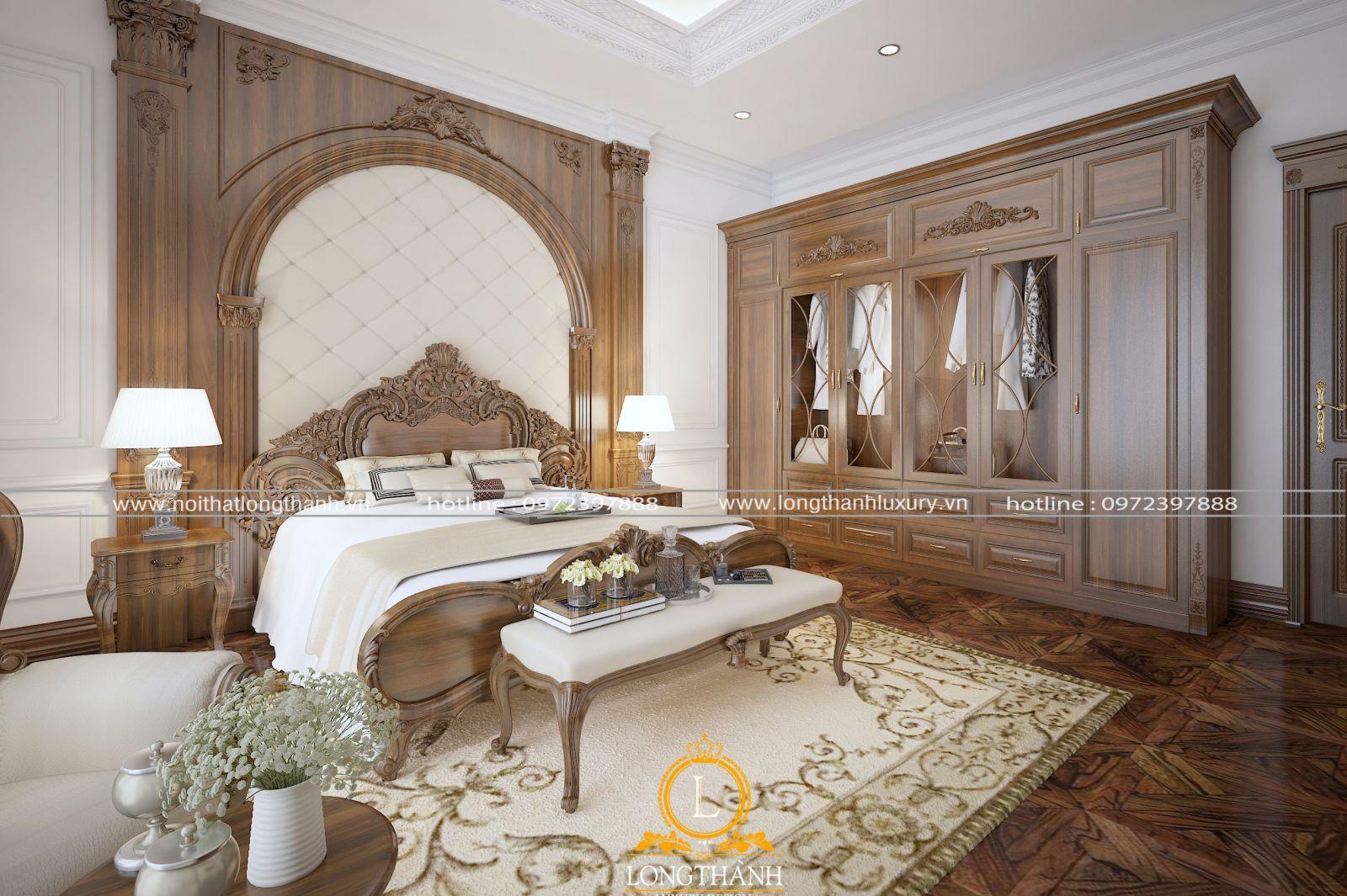 Mẫu giường ngủ cho phòng ngủ cao cấp sang trọng