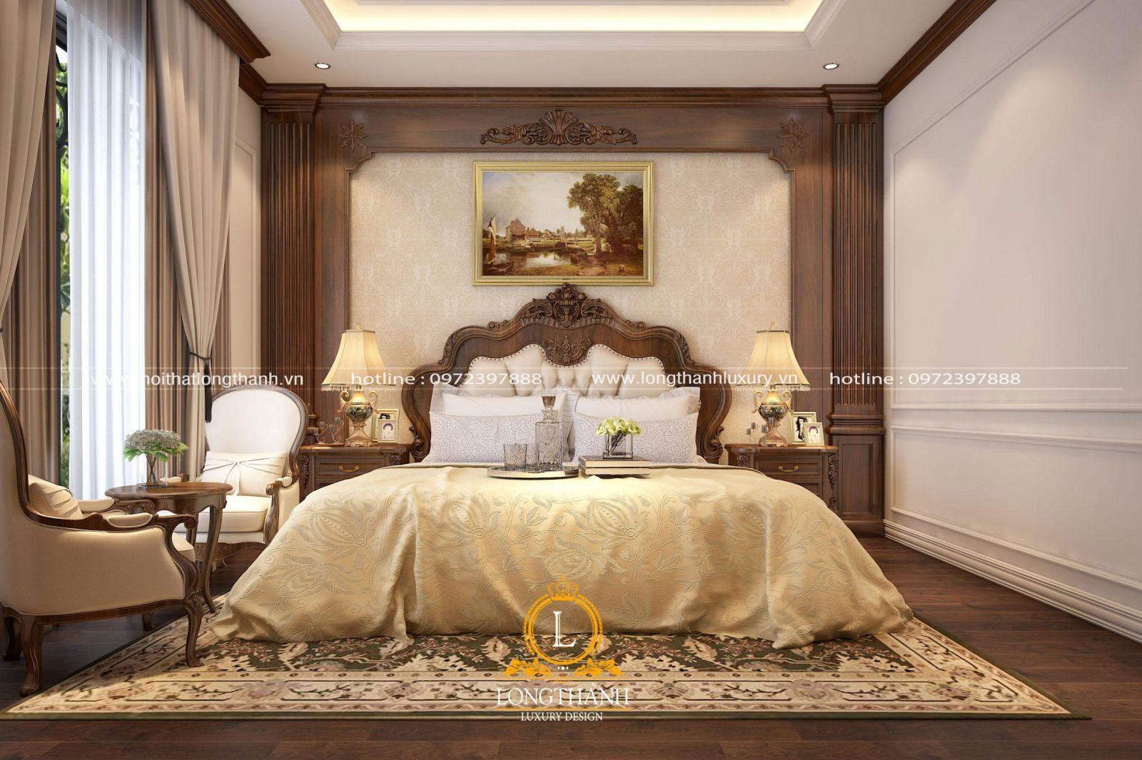Thiết kế phòng ngủ tân cổ điển sang trọng và tinh tế