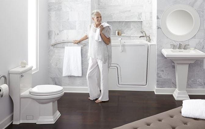 Thiết kế phòng tắm khoa học cho người già