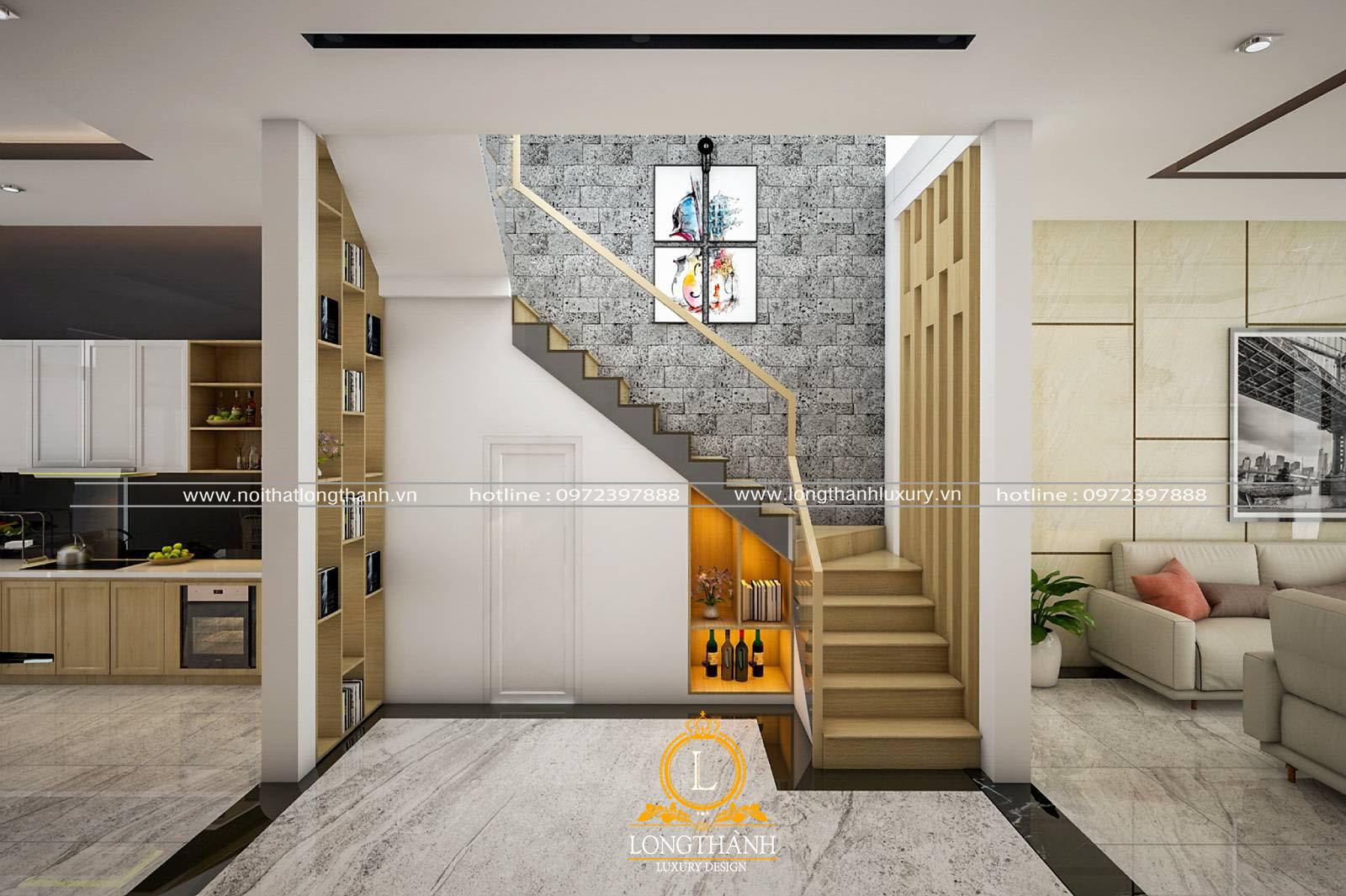 Thiết kế phòng vệ sinh nhỏ dưới gầm cầu thang cho nhà phố