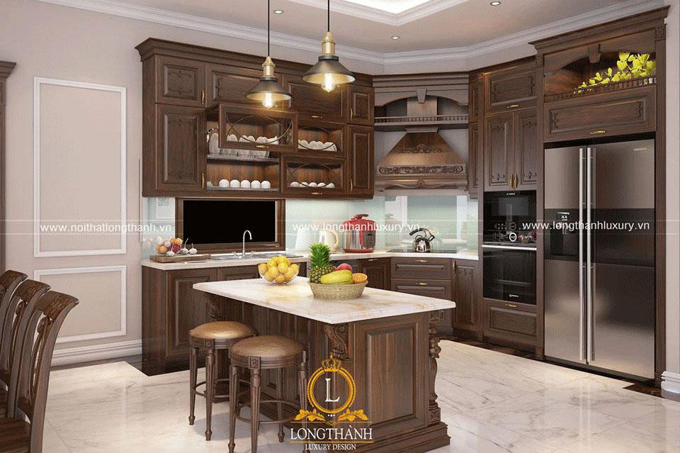 Không gian tiện nghi với thiết kế tủ bếp công năng