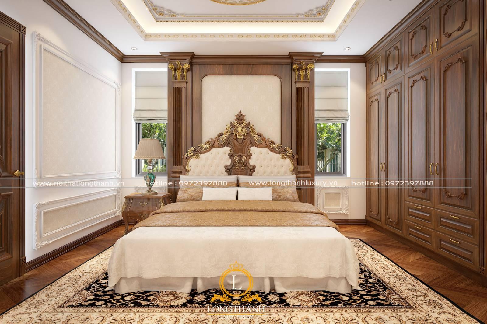 Các đặc điểm cơ bản của thiết kế giường ngủ master phong cách tân cổ điển