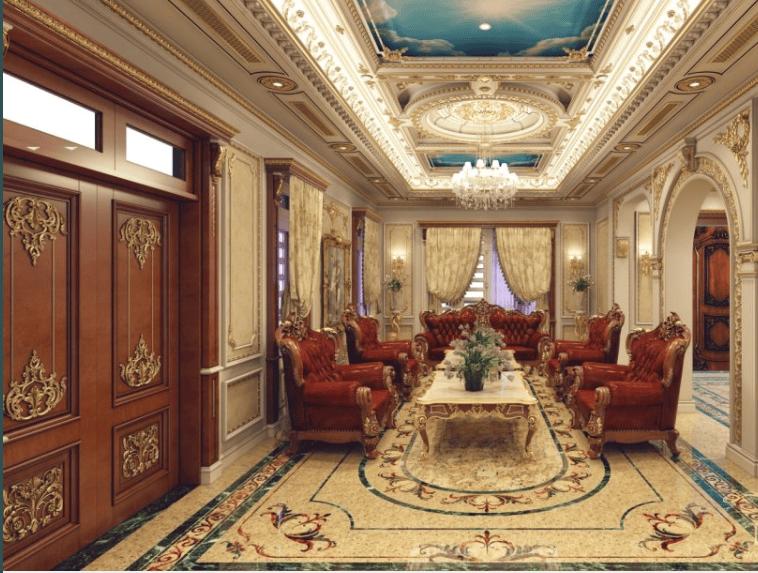 Thiết kế nội thất nhà biệt thự theo phong cách cổ điển Italia
