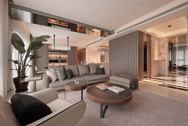 Tone màu trung tính được sử dụng trong thiết kế nội thất đương đại