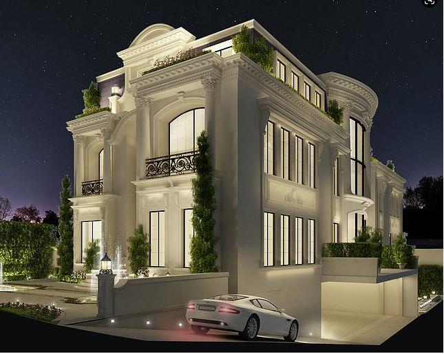 Tổng thể kiến trúc nhà biệt thự 2 tầng tân cổ điển sang trọng hiện đại