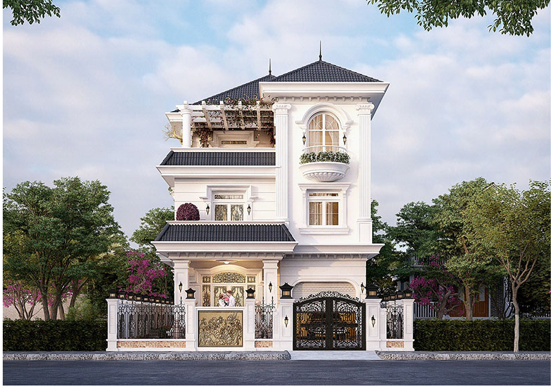 Thiết kế kiến trúc cho nhà biệt thự khẳng định nên đẳng cấp của gia chủ