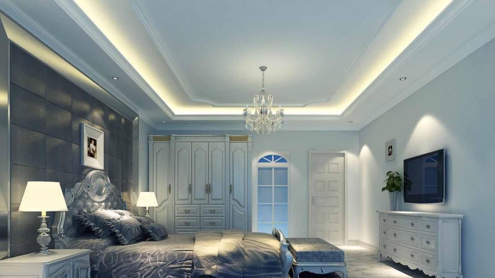 trần thạch cao kết hợp đèn led