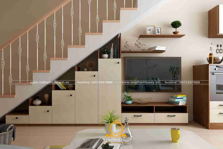 Trang trí gầm cầu thang tận dụng tối đa diện tích bên trong ngôi nhà