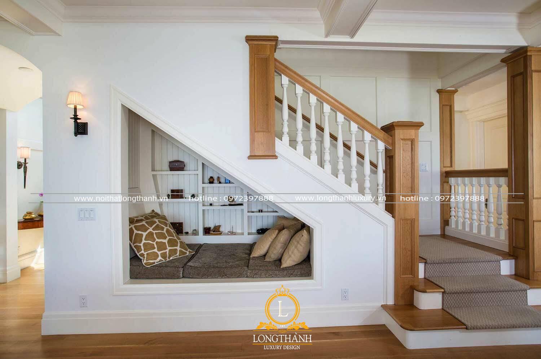 Trang trí gầm cầu thang với phòng ngủ nhỏ tiện lợi