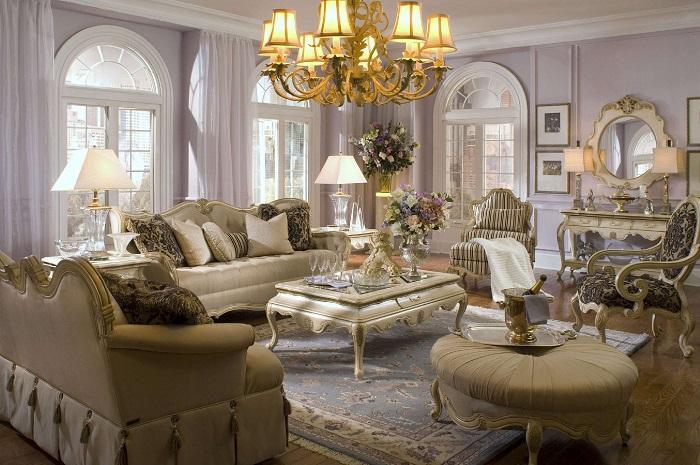 Trang trí phòng khách theo kiểu cổ điển Châu Âu