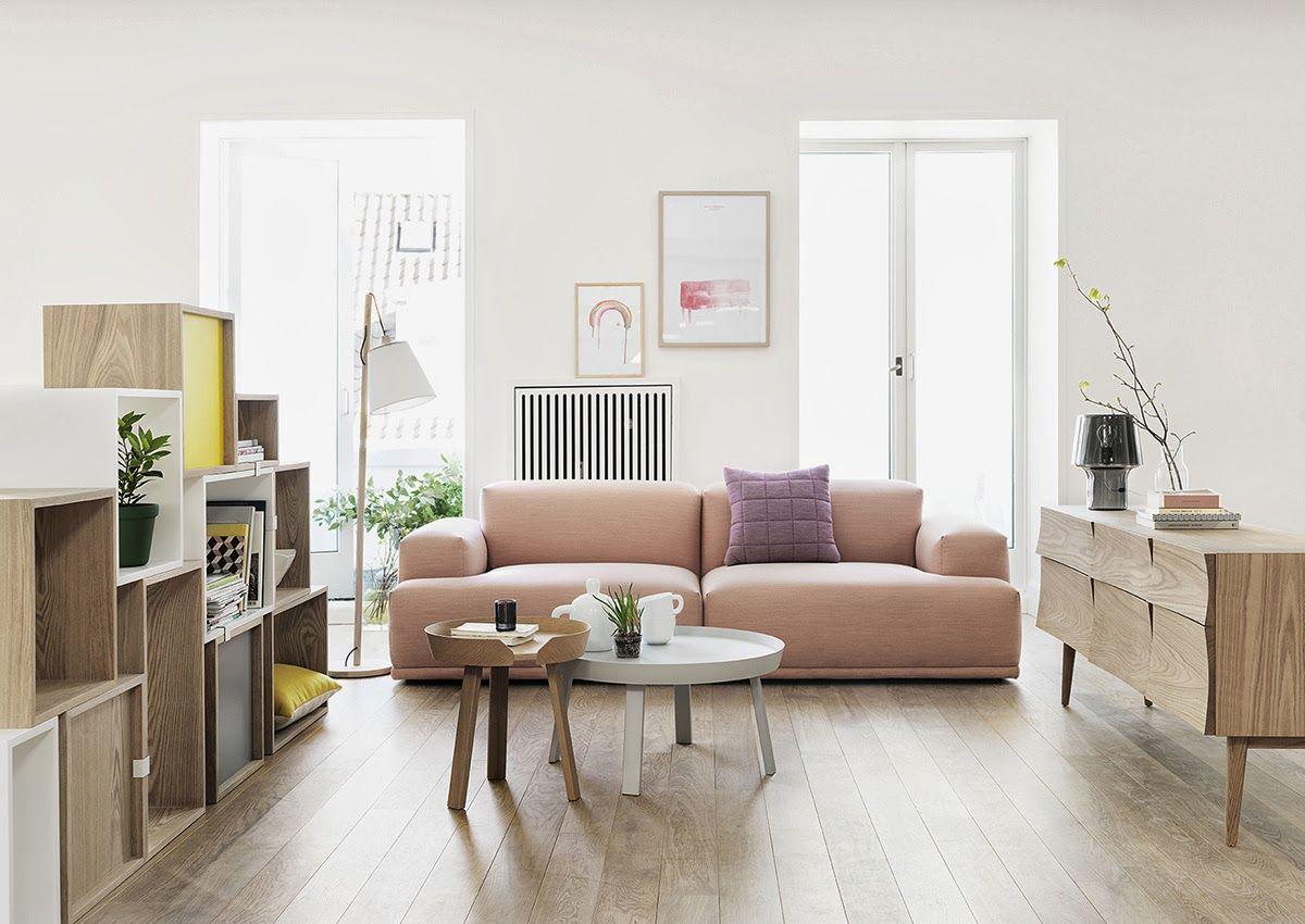 Trang trí trong nội thất phòng khách Scandianvian không cầu kỳ phức tạp