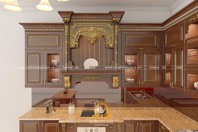 Mẫu tủ bếp gỗ tự nhiên đẹp LT 44 góc nhìn thứ 6