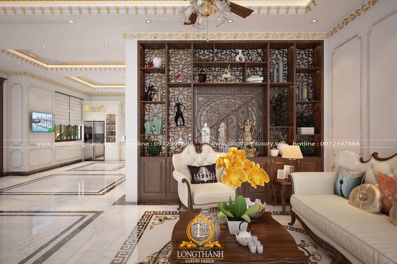 Tủ decor trang trí giúp phòng khách thêm sang trọng
