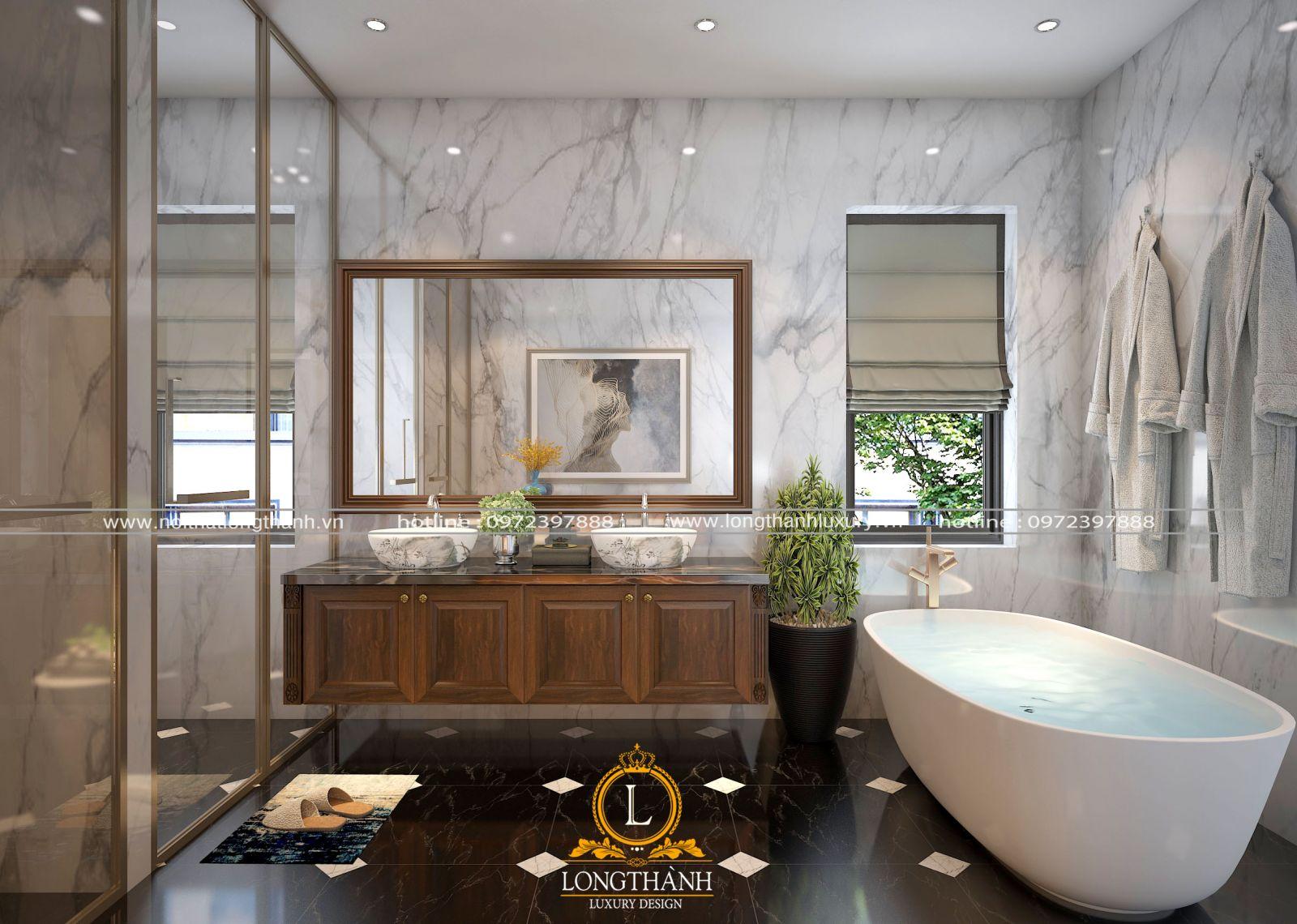 tủ lavabo mang phong cách tân cổ điển
