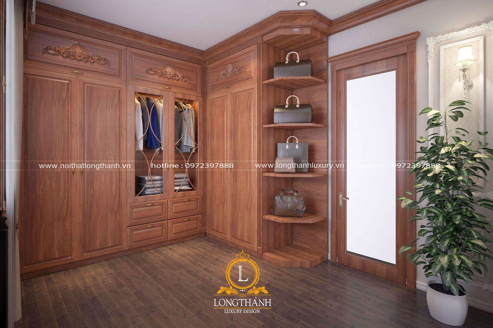 Tủ quần áo gỗ gụ sang trọng