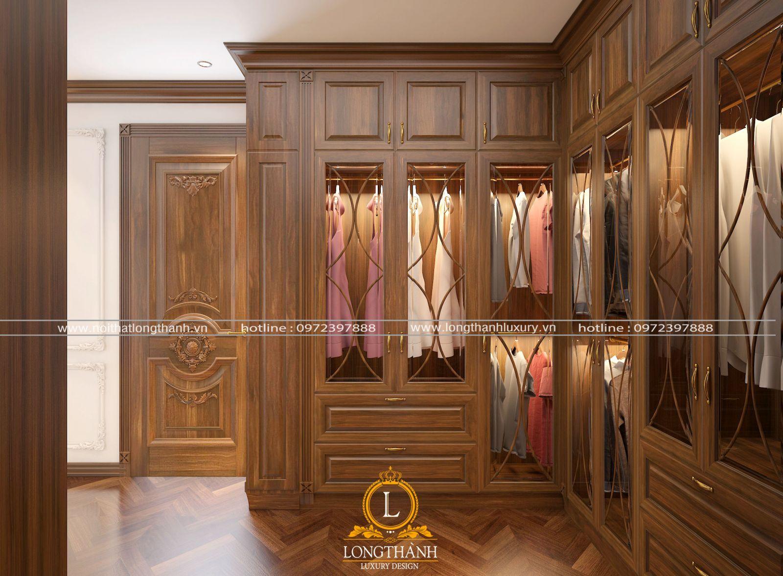 Tủ quần áo trong phòng ngủ master