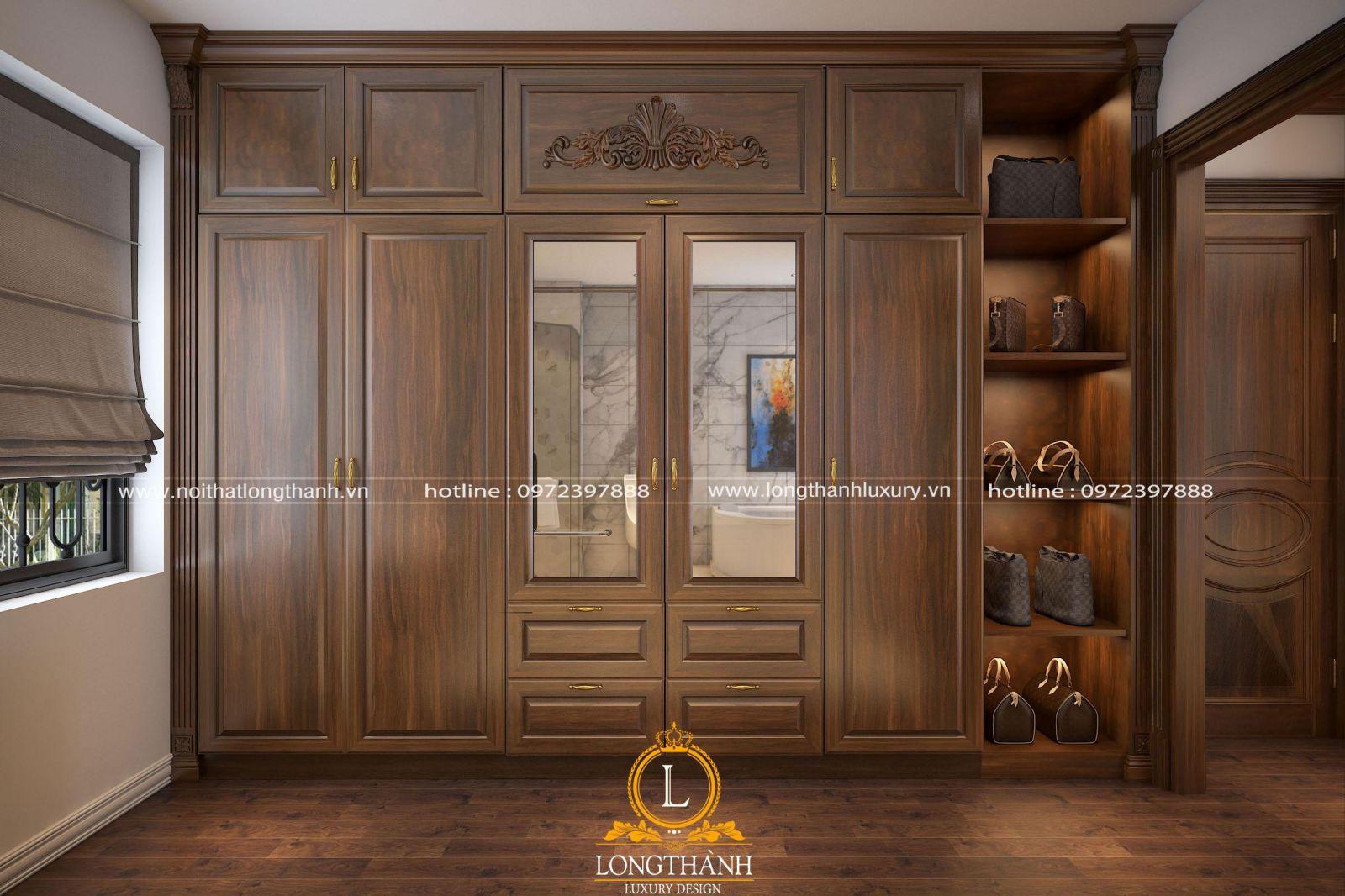 Tủ quần áo thiết kế ấn tượng cho phòng ngủ master