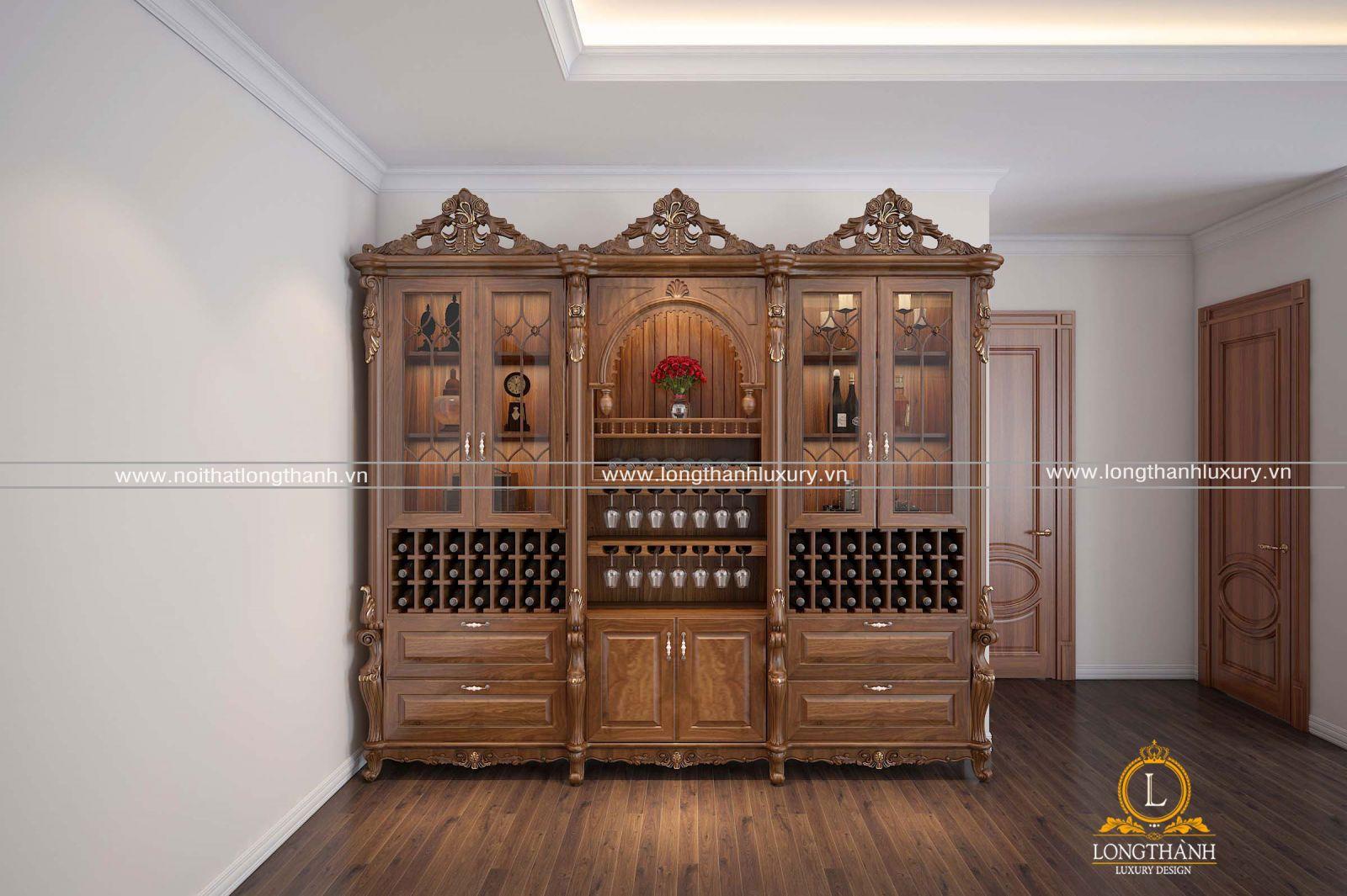 tủ rượu âm tường đẹp