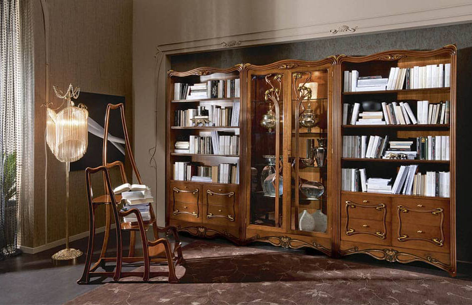 Mẫu tủ sách tân cổ điển cuốn hút