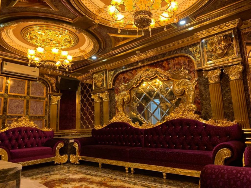 Ứng dụng của mạ vàng trong nội thất