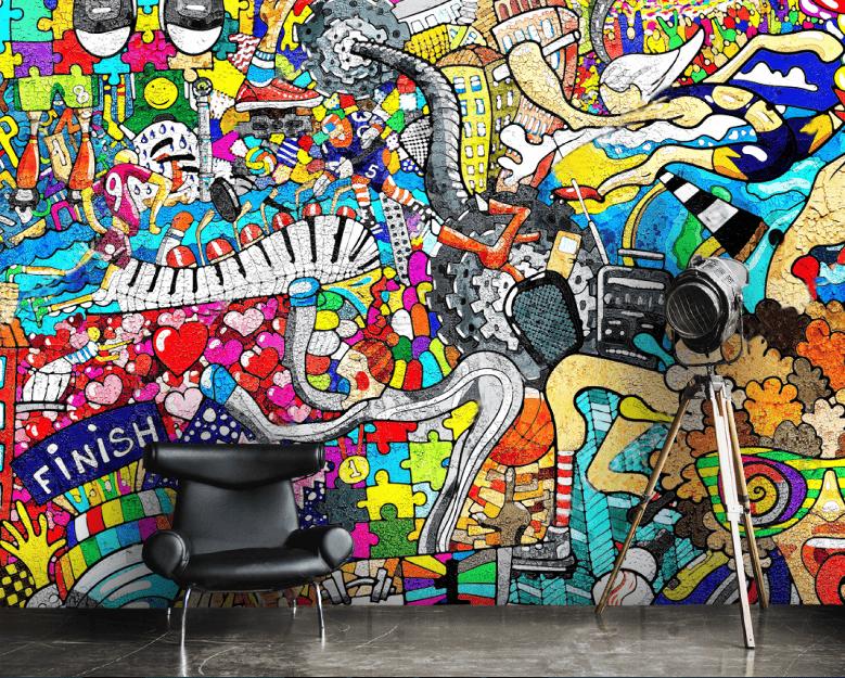 Ứng dụng bộ môn nghệ thuật đường phố Grafiti trong các công trình kiến trúc và nội thất