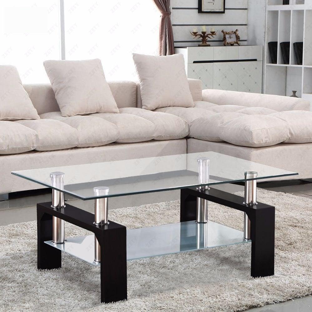 Ưu điểm của bàn sofa kính cường lực khi sử dụng trong không gian phòng khách