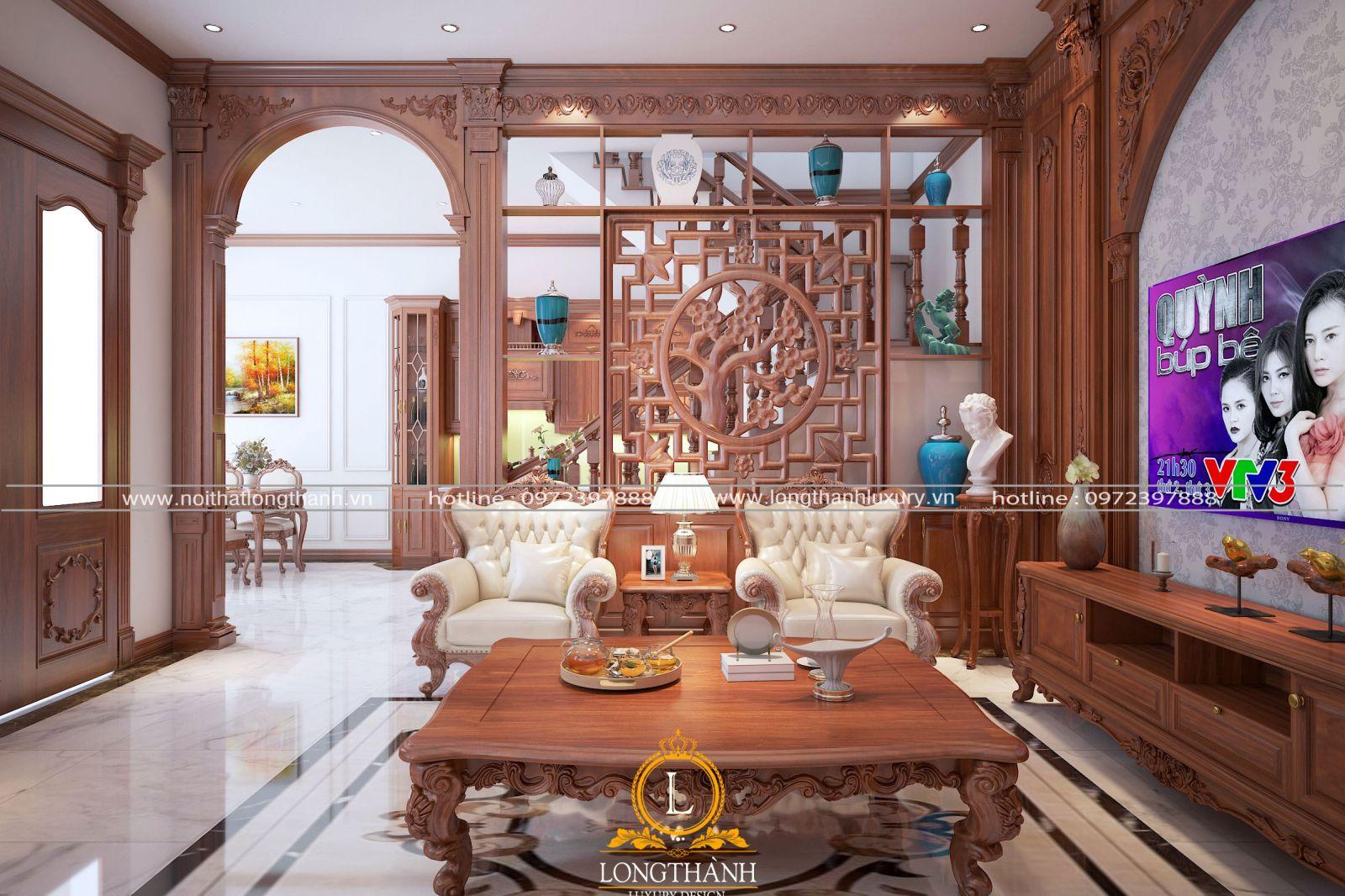 Vách ngăn đẹp cho phòng khách và cầu thang